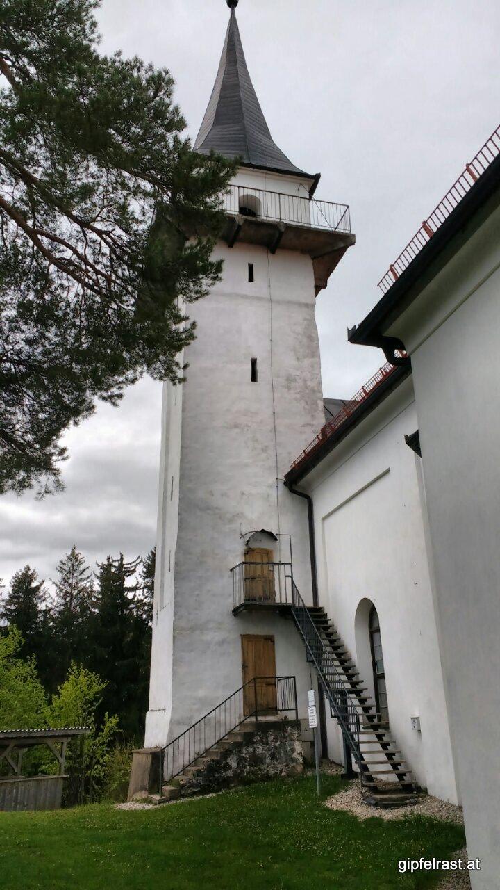 Am Turm der Kirche Sv. Pankracija gibt es eine Aussichtsplattform.