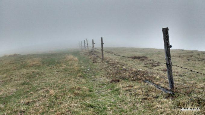 Nebel auch im Kreuzsattel
