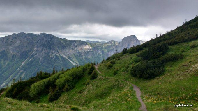 Am Weg vom Hirschegg- zum Neuwaldeggsattel