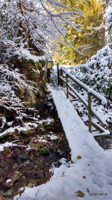 Der Ramingbach markiert die Grenze zwischen Ober- und Niederösterreich